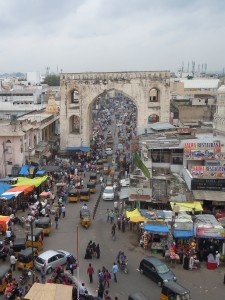Busy street in Hyderabad, India