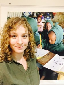 Elise Ursin with Bridge students in Africa